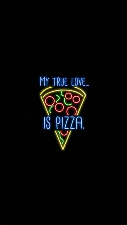 Pizza Neon Phone Wallpapers Touch Iphone Dont
