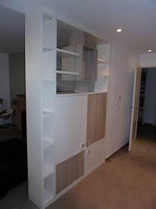 Meuble Séparation Pièce : cette biblioth que qui s pare 2 espaces de vie est galement un meuble tv du cot salon la ~ Teatrodelosmanantiales.com Idées de Décoration