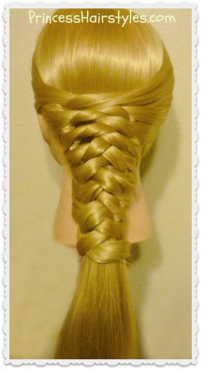 Zig Braid Zag Woven Tutorial Hair Ponytail
