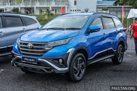 toyota rush launched  malaysia   engine