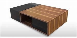 Table Bois Et Noir : coti design darkos noir et bois tables basses sur easylounge ~ Dailycaller-alerts.com Idées de Décoration