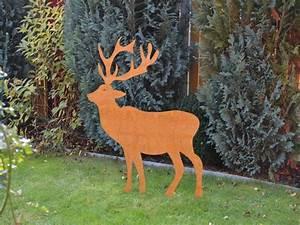 Weihnachtsbaum Metall Groß : hirsch edelrost gro 1 41 m alles f r haus und garten aus metall ~ Sanjose-hotels-ca.com Haus und Dekorationen