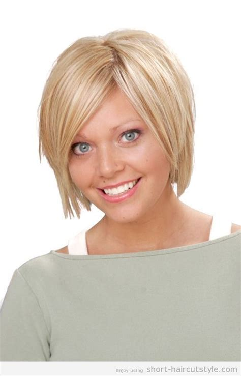 cool  haircuts  fuller faces short hairstyles