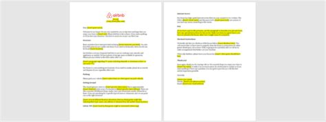 airbnb  letter template   airbnb guide
