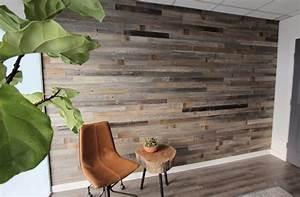 reclaimed wood paneling reclaimed barn wood planks for With kitchen cabinets lowes with planked wall art