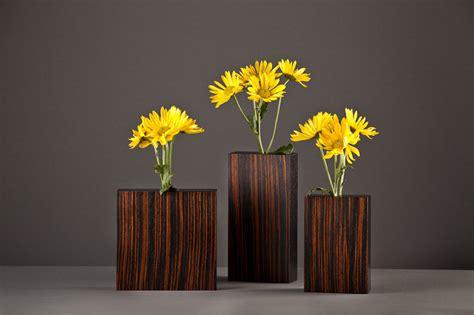 macassar ebony bud vases  david kiernan wood vase