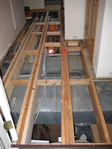 wood floor joist bridging another question about sistering joists ceramic tile