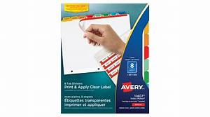 Averyr index makerr clear label dividers coloured tabs 8 for Avery transparent labels
