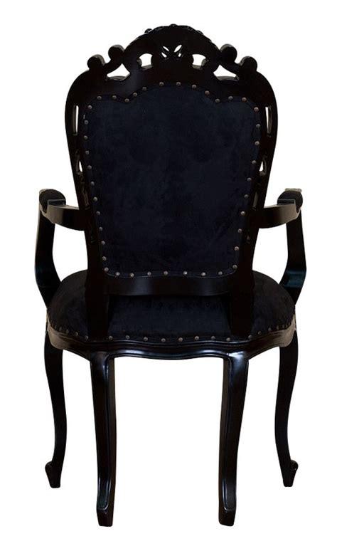 fauteuil en bois noir et microfibre noire