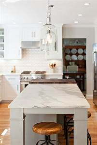 Fifties Style Lighting Honed Calacatta Gold Marble The Island Countertop Is