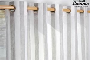 Gardinen Grau Weiß Gestreift : leinen gardine weiss natur gestreift 145x235cm m05c33215 leinenbettw sche linumo linumo ~ Bigdaddyawards.com Haus und Dekorationen