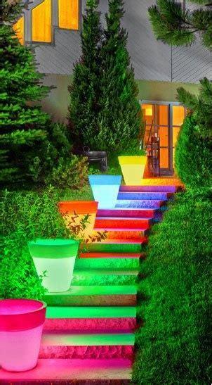 lidee deco du dimanche  escalier exterieur lumineux