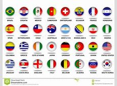 Complete Flags Fifa World Cup 2014 Editorial Photo Image