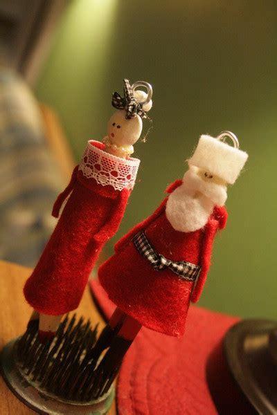 clothespin santa   claus doll ornaments
