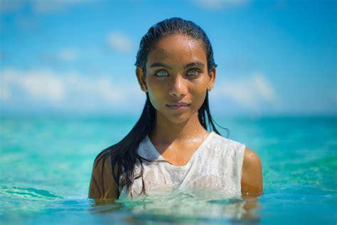 Maldivian Girl With Beautiful Eyes Photo One Big Photo