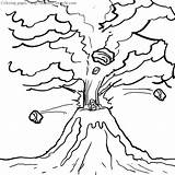 Volcano Coloring Pages Miracle Timeless sketch template