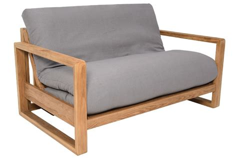 Want a sleeper chair bed? 2 Seater Oak Wood Sofa Bed | Futon Company