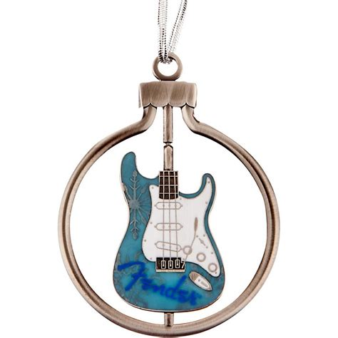 fender boxed quot spinner with guitar quot christmas ornament blue