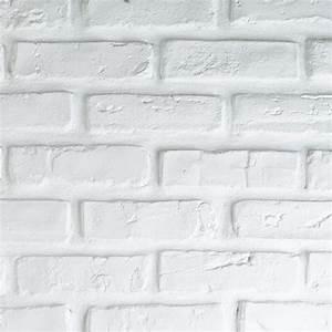Brique De Parement Blanche : plaquette de parement en pl tre briquette blanche peindre tous les produits plaquettes de ~ Nature-et-papiers.com Idées de Décoration