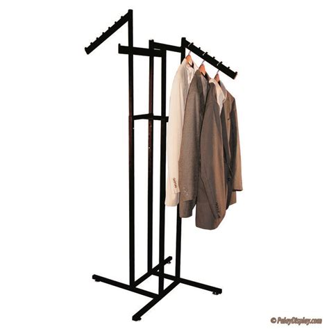 rolling bag with garment rack 4 way rack black with arms and slant flag arms