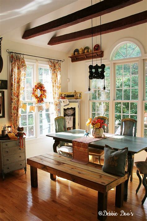 Country Decorating Ideas For The Kitchen by Country Rustic Fall Decorating With Florals And Texture