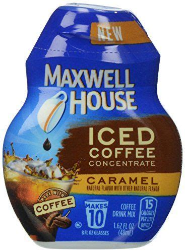 15 calories per 1/10 bottle. Maxwell House Iced Coffee Concentrate, Caramel, 1.62 Ounce ...