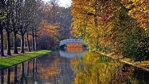 Full HD Wallpaper bridge river autumn kembridge, Desktop ...