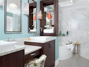 blue bathroom ideas and decor with pictures hgtv With bathroom decor ideas from tub to colors