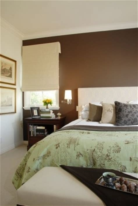 mint green and chocolate brown bedroom