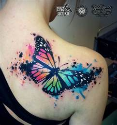 cute watercolor bird tattoo designs  girls