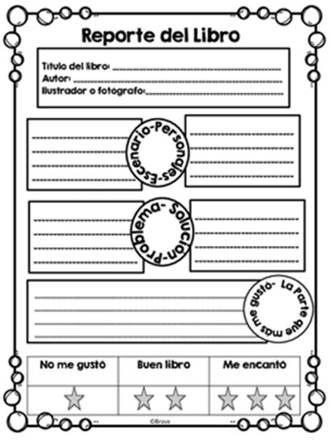 Reports Resumen by Reporte Libro Book Report In By Bravo Tpt