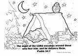 Coloring Camping Bible Verse Sheet Going Camp Sheets Preschool Theme Clipart Verses Vacation Activities Classroom Adventure Devo Tent Campers sketch template