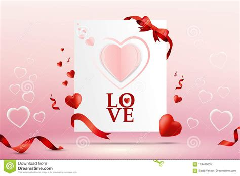 abstract love letter card vector template design