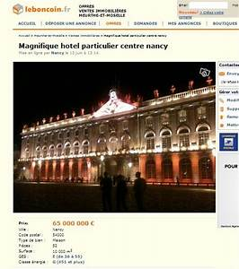 Le Bon Coin Somme Ameublement : le bon coin l 39 h tel de ville de nancy mis en vente ~ Dailycaller-alerts.com Idées de Décoration