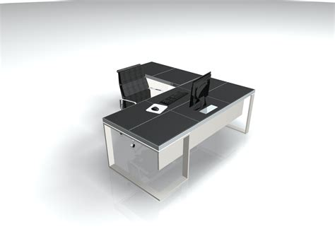 Product Of The Week A Desk L With A Mid Air Suspended Switch by Black Leather Metal Executive L Shaped Desk Ambience Dor 233