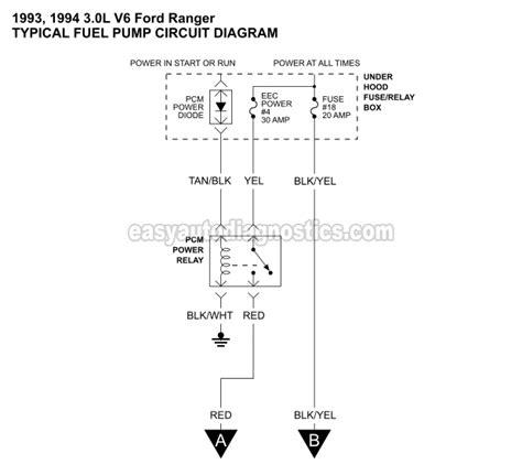 Part Ranger Fuel Pump Circuit Diagram