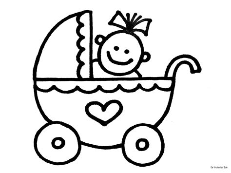 Kleurplaat Een Baby Geboren by Baby Kleurplaten Geboorte Kraamcadeau Babyshower