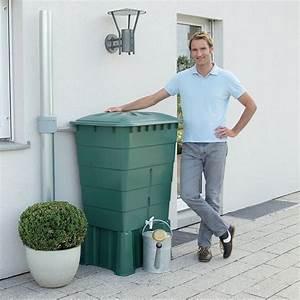 Bac Récupérateur D Eau De Pluie : r cup rateur d 39 eau rectangulaire vert 300l garantia ~ Premium-room.com Idées de Décoration