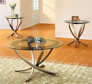 3 piece nansen slate insert coffee end table set glass for Modern coffee table and end table set
