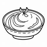 Mashed Bowl Potato Potatoes Coloriage Bol Coloring Clip Illustrations Mash Puree Dessin Traditional Dish Template sketch template