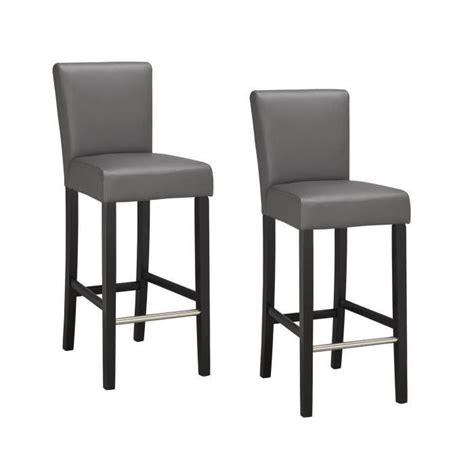 elvis lot de 2 chaises de bar grises achat vente