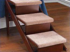 Stairs for dogs for high beds best design and size of bed for Best dog stairs for bed