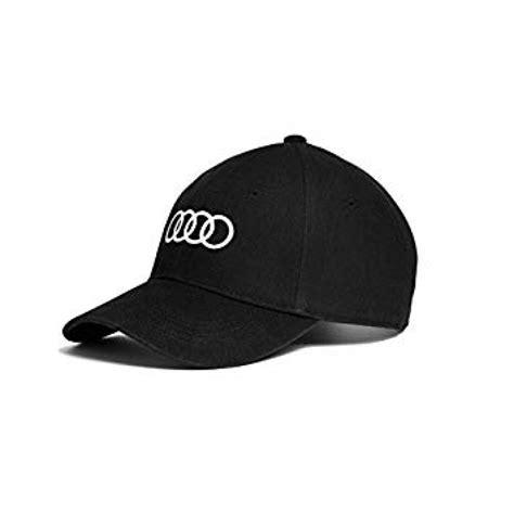 casquette noir audi avec logo quatre anneaux brode