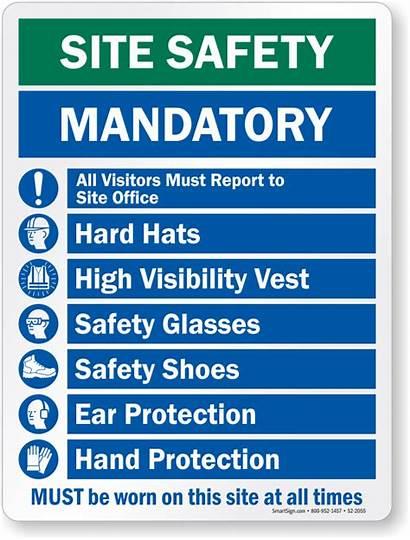 Must Sign Site Mandatory Worn Safety Hard