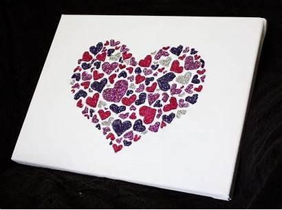 Canvas Heart Hearts Supply Glitter Artglitterblog