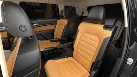 volkswagen atlas interior cargo space seating colors
