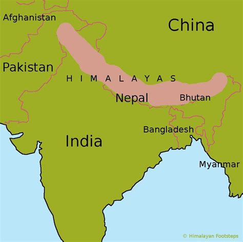 map of himalayan mountains in india images