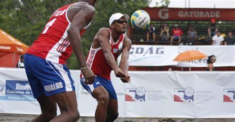 cuban beach volleyball pairs  play  china  cayman