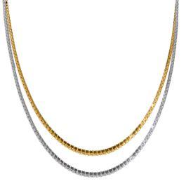box chain precious metal necklaces jewelry accessories