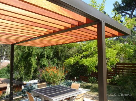 metal and wood pergola modern steel and wood pergola contemporary patio other metro by tko structures